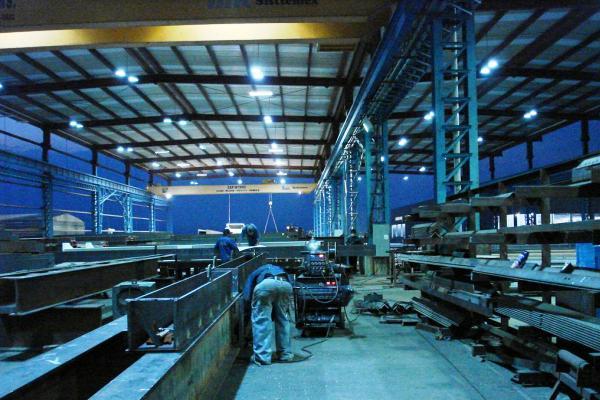 Prueba de tecnología ECOS para interiores en nave industrial