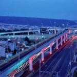 LEDs de color en puente de Pachuca
