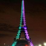 La luz festejó a la Torre Eiffel en su 120 aniversario