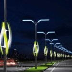 Energía eólica de autos para iluminar carreteras