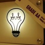 Lámpara solar portátil de LEDs