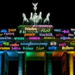 Un mensaje de paz desde la Puerta de Brandenburgo