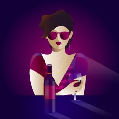 paula-barbaro-dibujo-mujer-vino