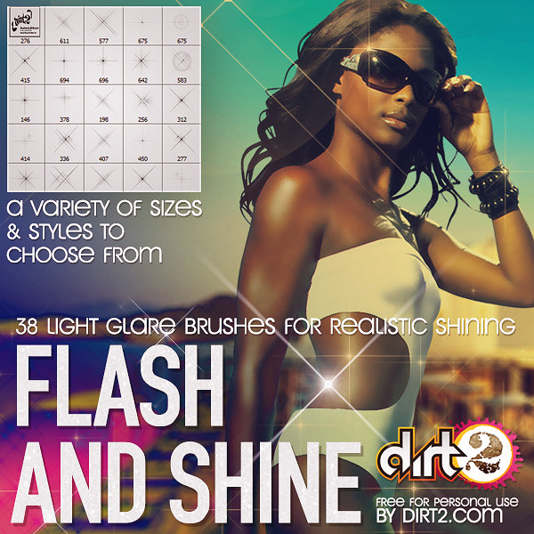 38 flash sparkle and shine brushes