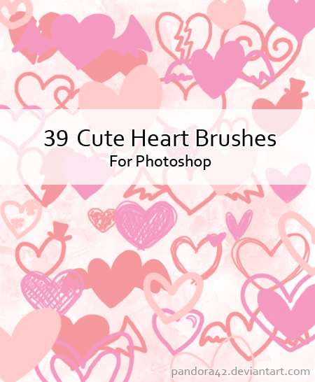 Cute Heart Brushes for PS