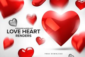 Free Love Heart Renders Pack