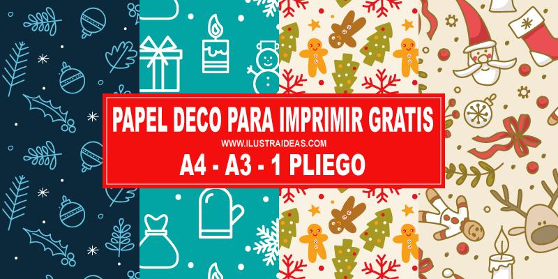 Papeles Deco Navidad Para Imprimir Ilustraideas