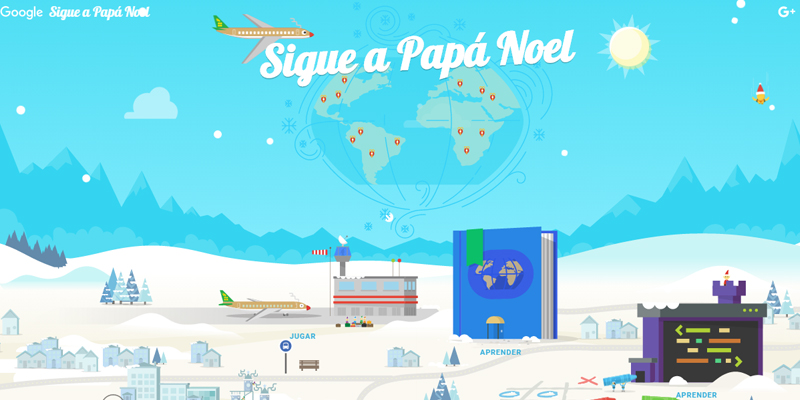 Sigue a Papa Noel