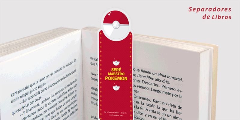 Separadores de libros de Pokémon