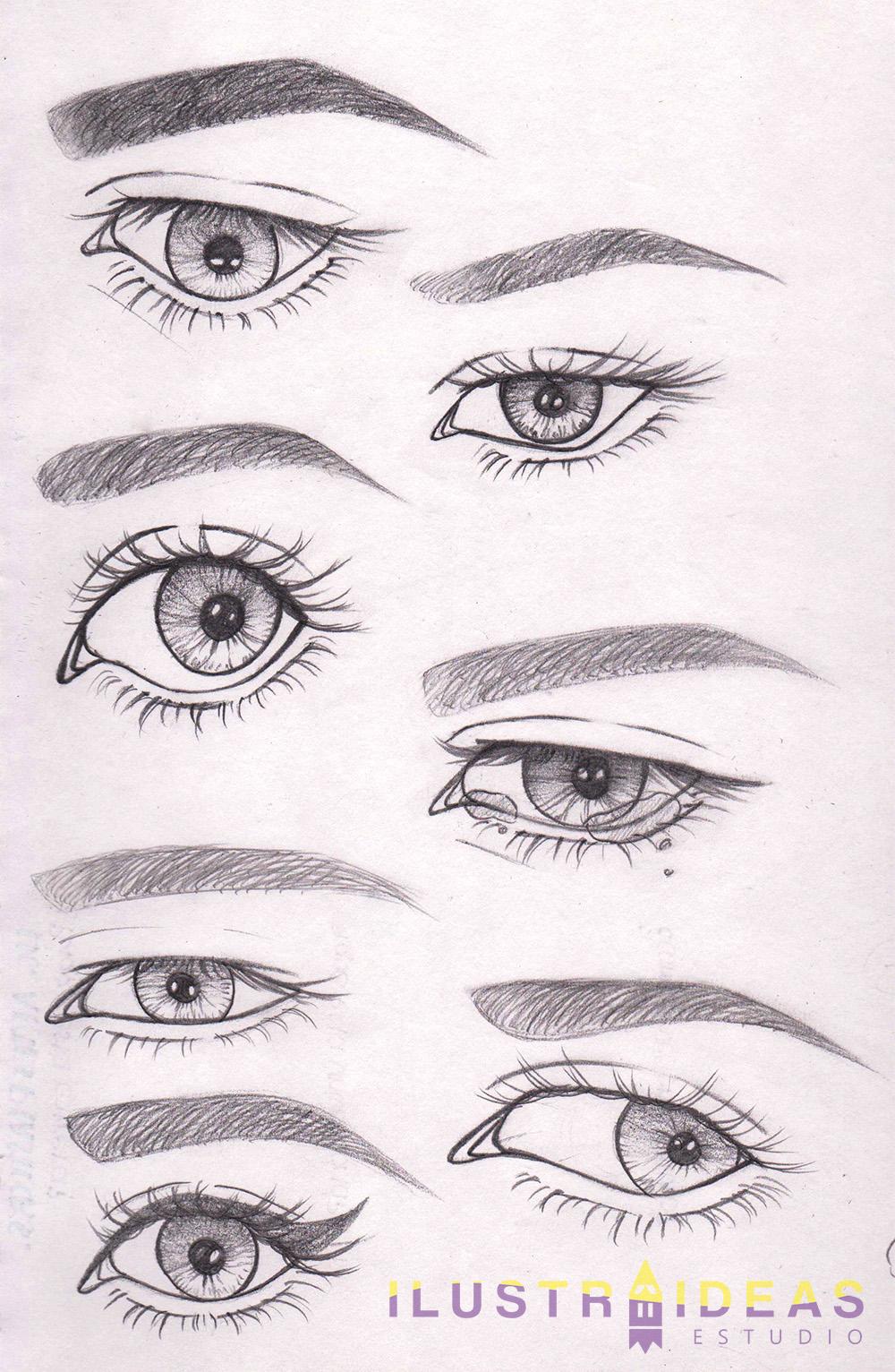Dibujando ojos de personas animadas | IlustraIdeas