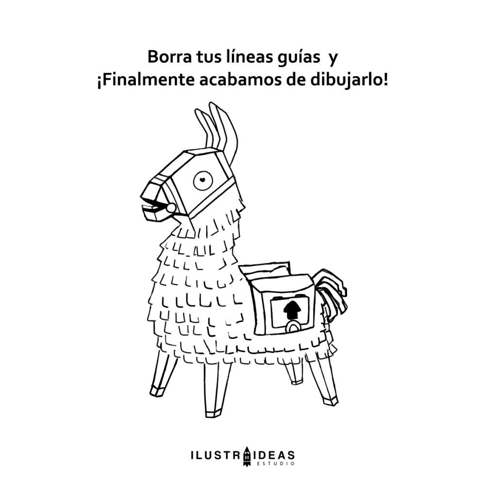 Dibuja la Llama piñata de Fortnite
