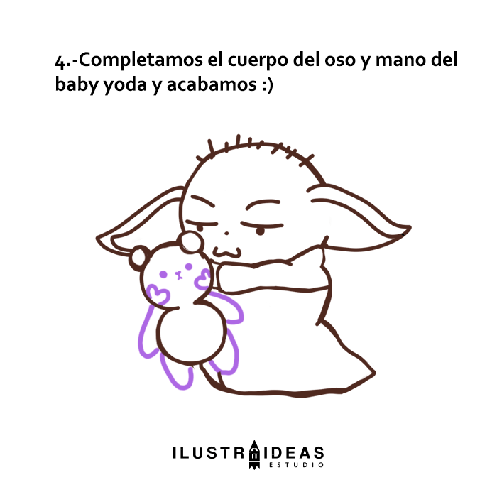 dibujanda fácil a baby yoda