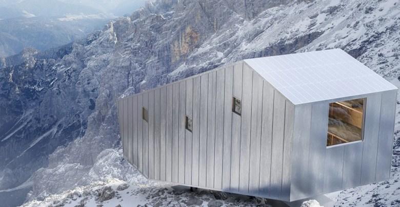 Foto di casa moderna sulla montagnae