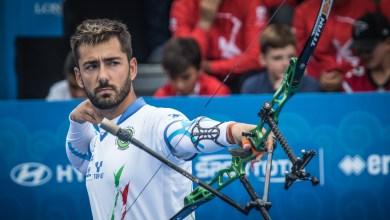 Mauro Nespoli in azione durante la finale di Coppa del Mondo del 2018 a Samsun (Tur)