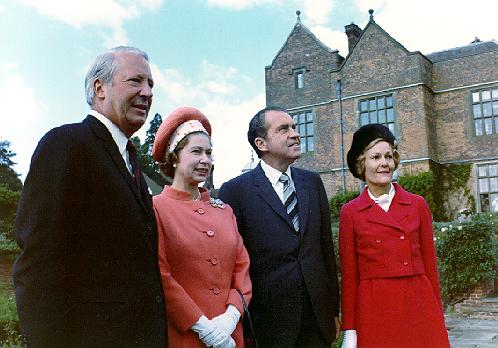 Edward Heath, la Regina Elisabetta II, Richard e Pat Nixon