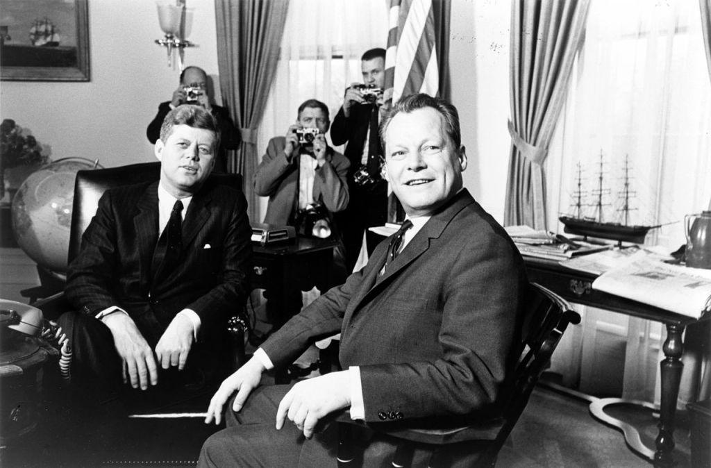 Brandt con il Presidente Kennedy nel 1961