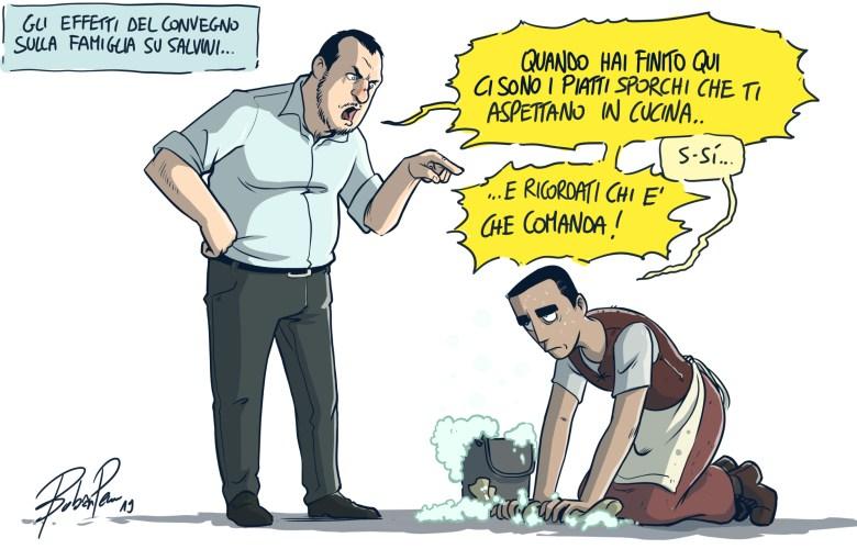 Salvini e cenerentola Di Maio