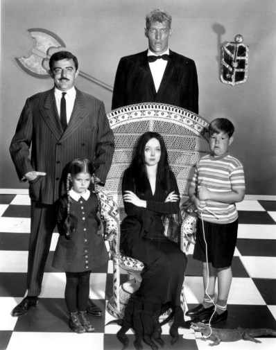 Il cast del 1964, la famiglia addams