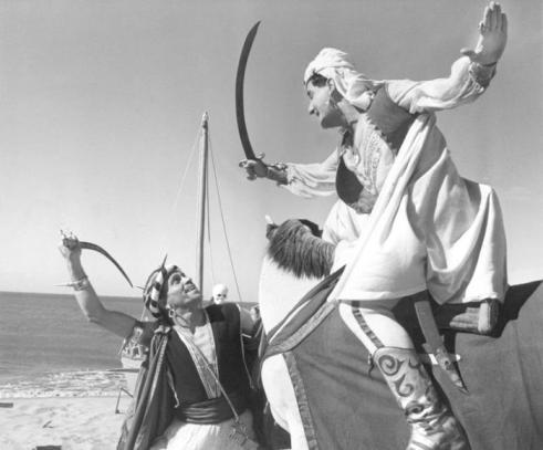 """Alberto Sordi in """"Lo sceicco bianco"""", Federico Fellini Venezia"""