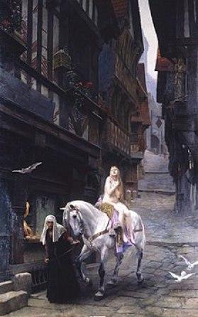 Quadro di Lady Godiva del pittore francese Jules Joseph Lefebvre