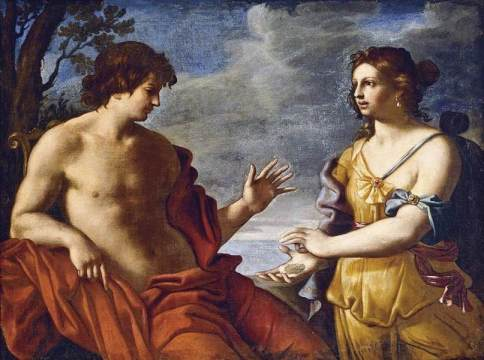 Apollo e la Sibilla Cumana - Dipinto di Giandomenico Cerrini