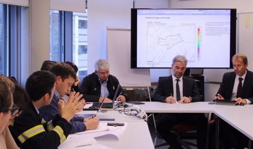 Alto Adige: il vertice della Centrale operativa, riunitosi con l'assessore alla protezione civile Arnold Schuler