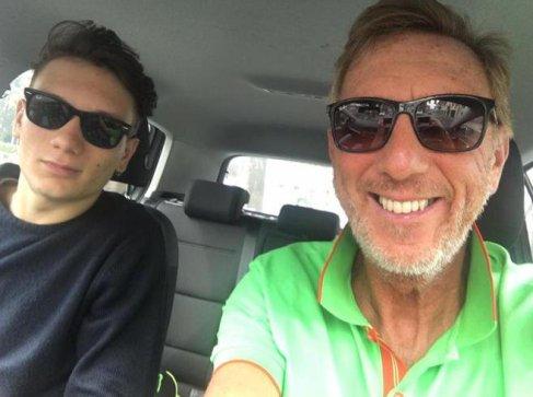Manuel Bortuzzo con il padre Franco