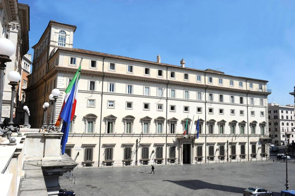 gel igienizzante Palazzo Chigi