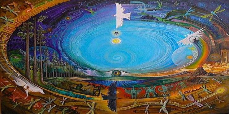 cerchio sciamanico all'aperto
