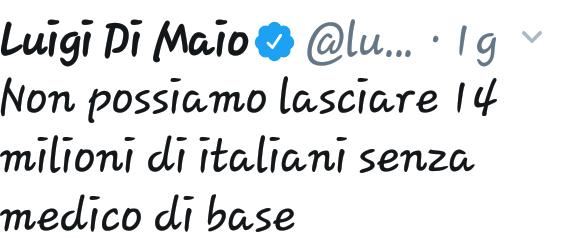 Non possiamo lasciare 14 milioni di italiani senza medico di base