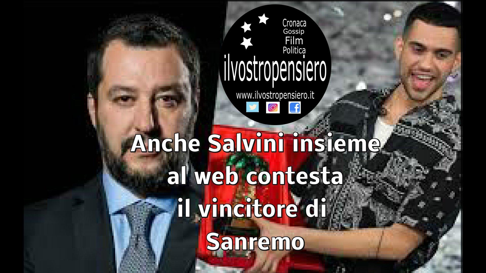 Il web si scatena sul vincitore del Festival di Sanremo Mahmood,anche Salvini