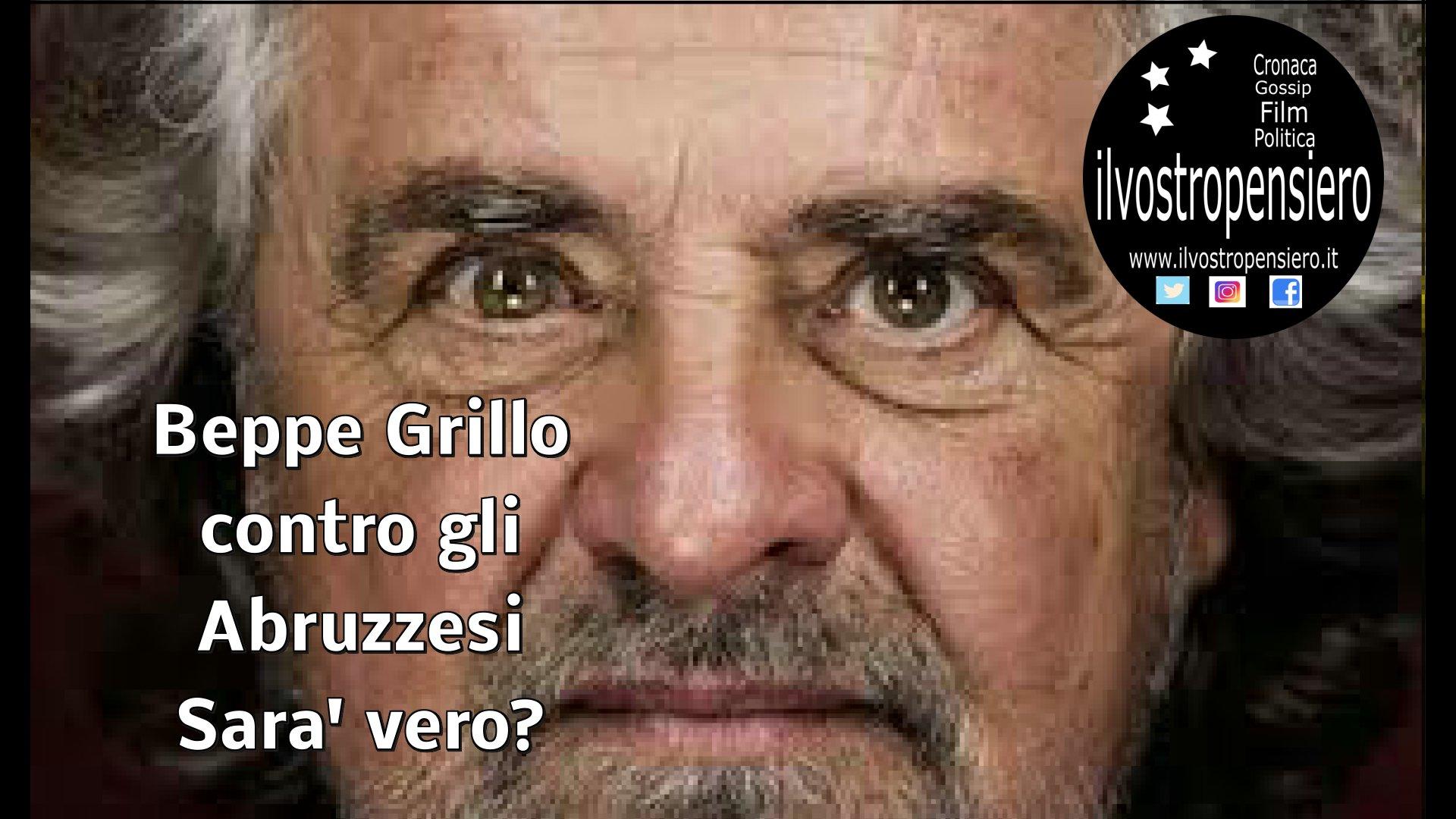 """Beppe Grillo """"contro"""" gli abruzzesi: """"Ridateci i 700mila euro"""""""