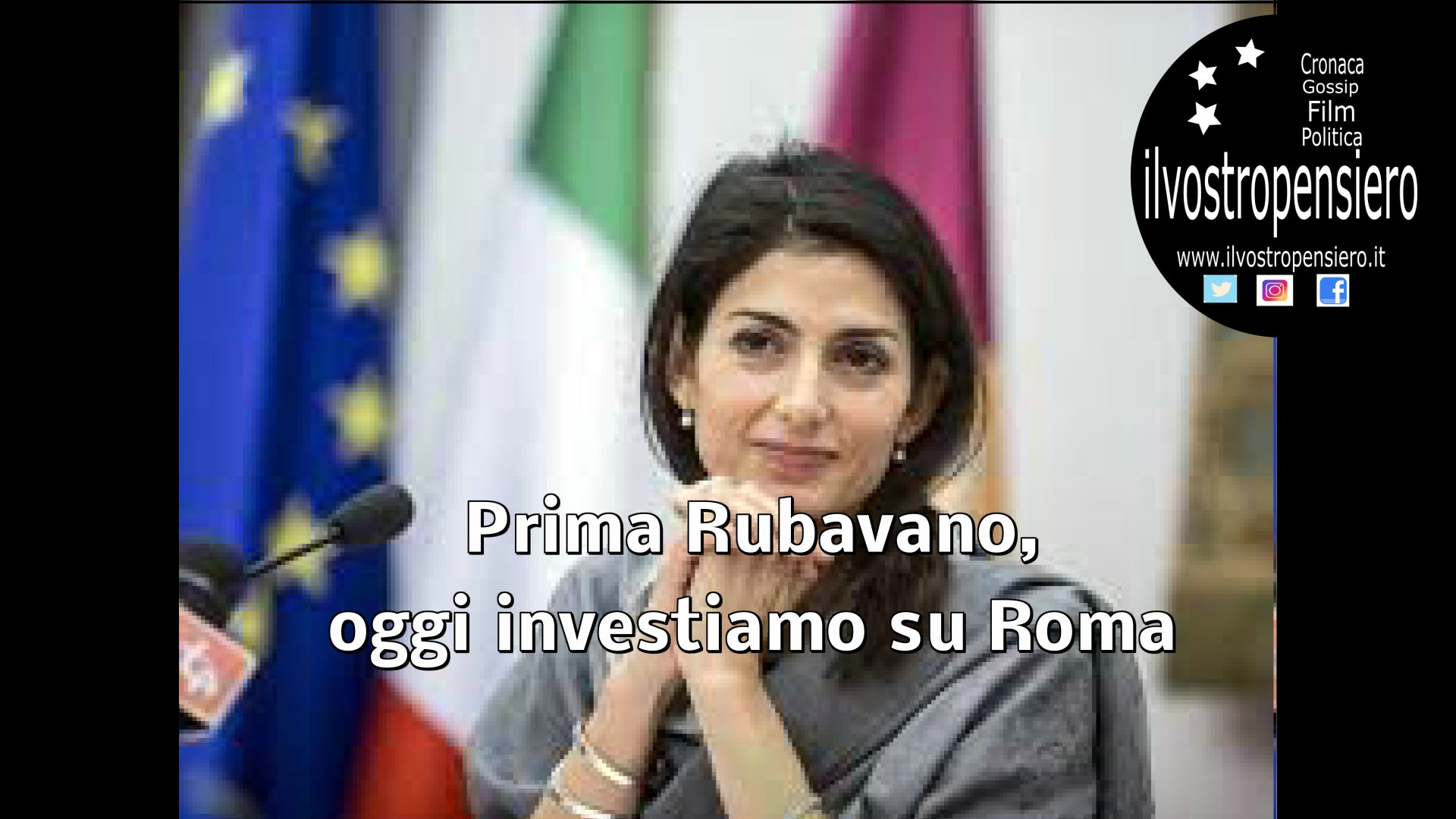 Virginia Raggi: Prima rubavano,oggi investiamo soldi per Roma (video)
