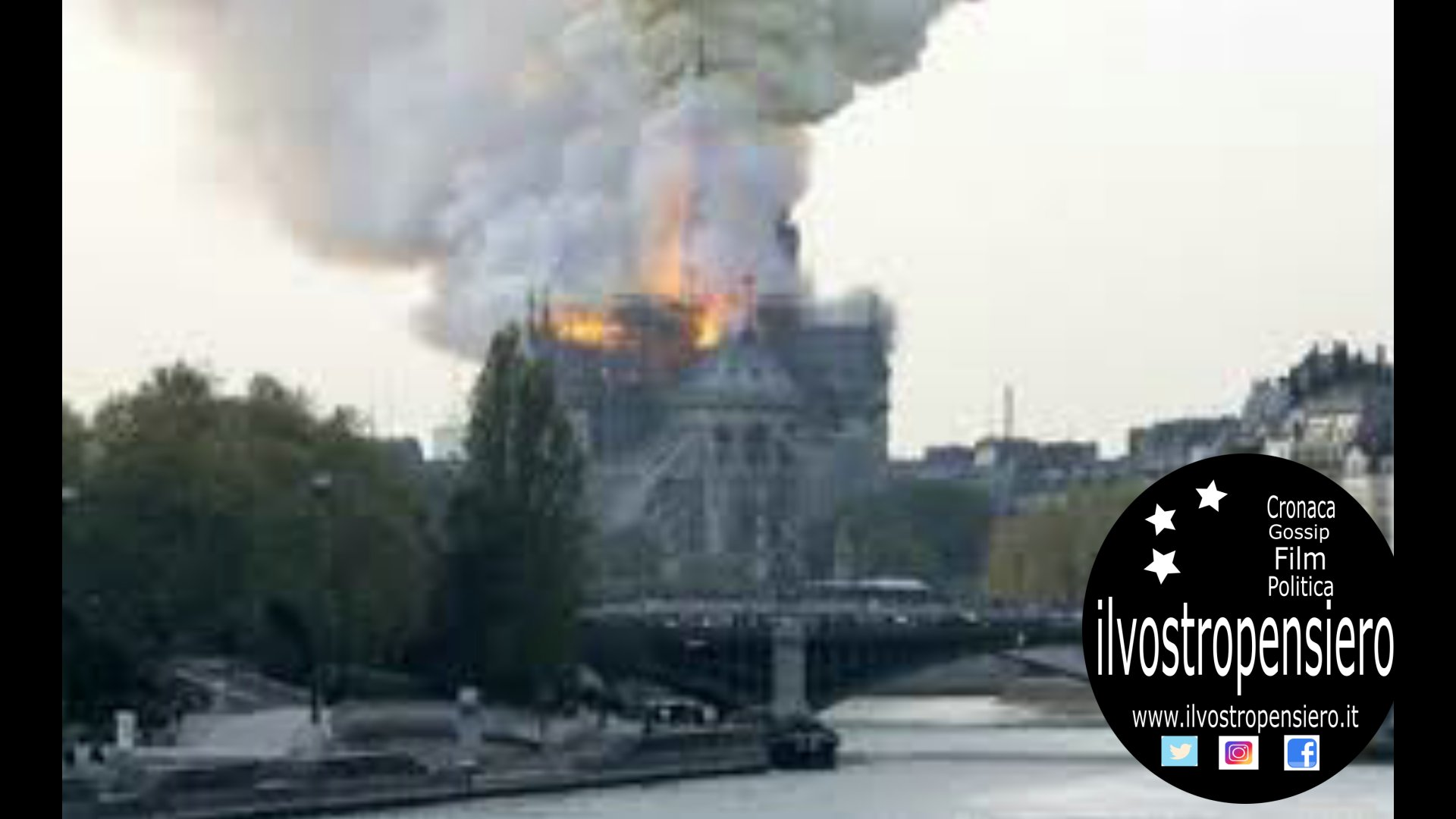 Parigi, a fuoco la cattedrale di Notre Dame (guarda il video)