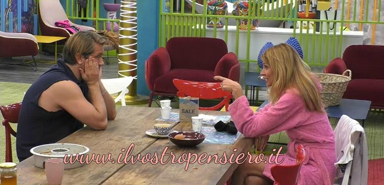 Gfvip: Adriana Volpe molto astuta lega una forte amicizia con Patrick Pugliese.