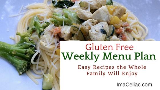 Gluten Free Weekly Menu Plan July 18 2016