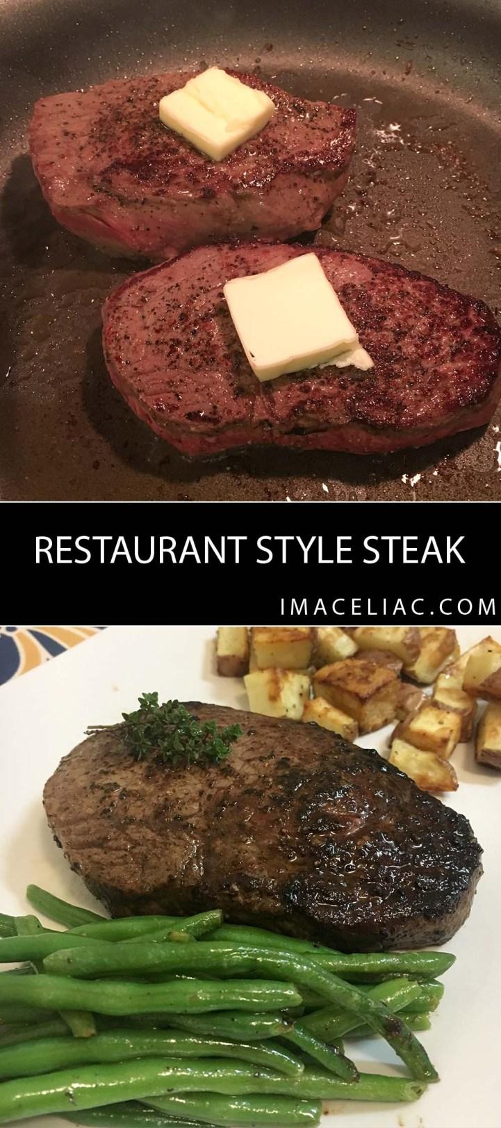 Restaurant Style Steak at home
