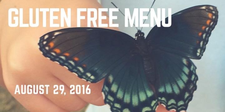 Gluten Free Menu Plan August 29 2016