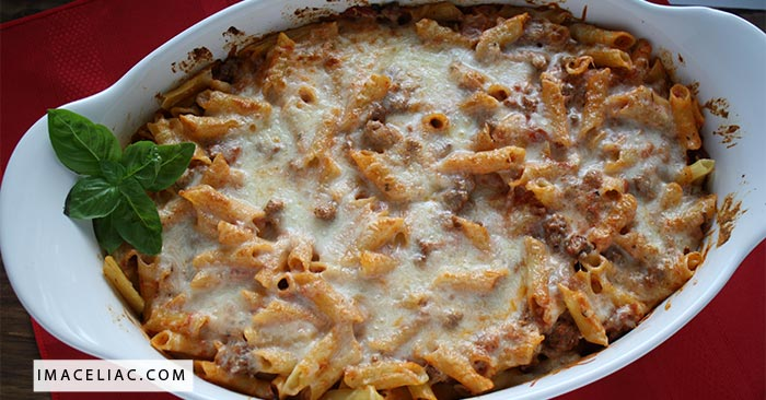 This baked ziti recipe is amazing, simple and gluten free