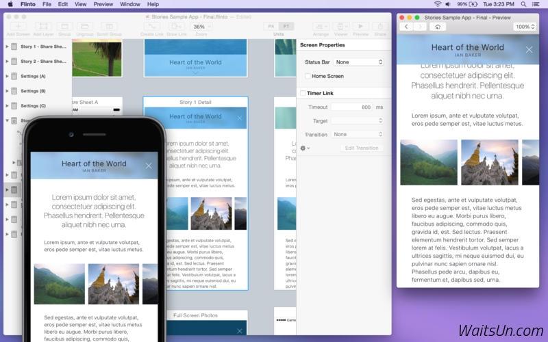 Flinto for Mac 1.6.3 破解版 - 强大的移动应用原型设计工具