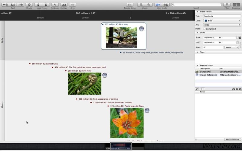 Aeon Timeline for Mac 2.0.3 注册版 - Mac上创造性思维的时间轴工具