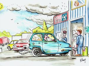 Reliant robin going for MOT