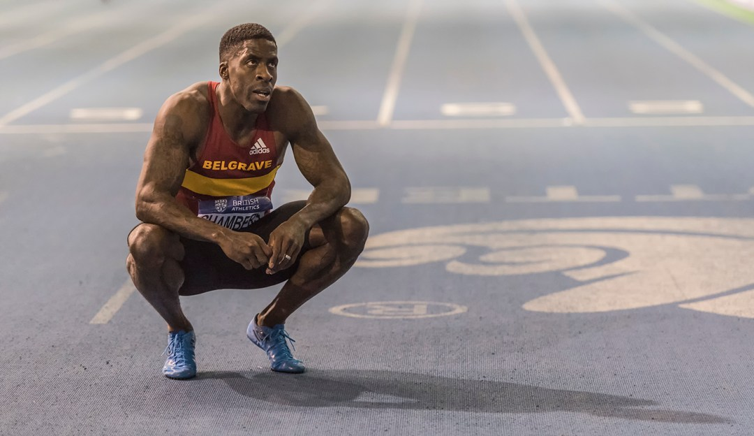 Dwaine Chambers at British Athletics indoor team trials