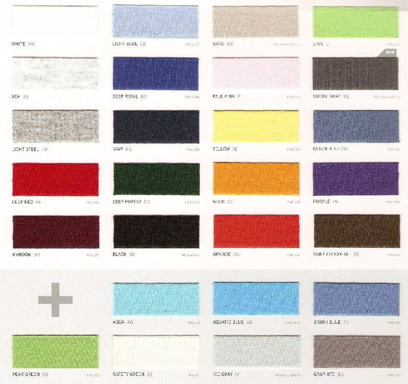 Fruit Of The Loom Color Chart 2017 Coloringsite