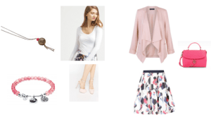 saint valentin, look girly rose