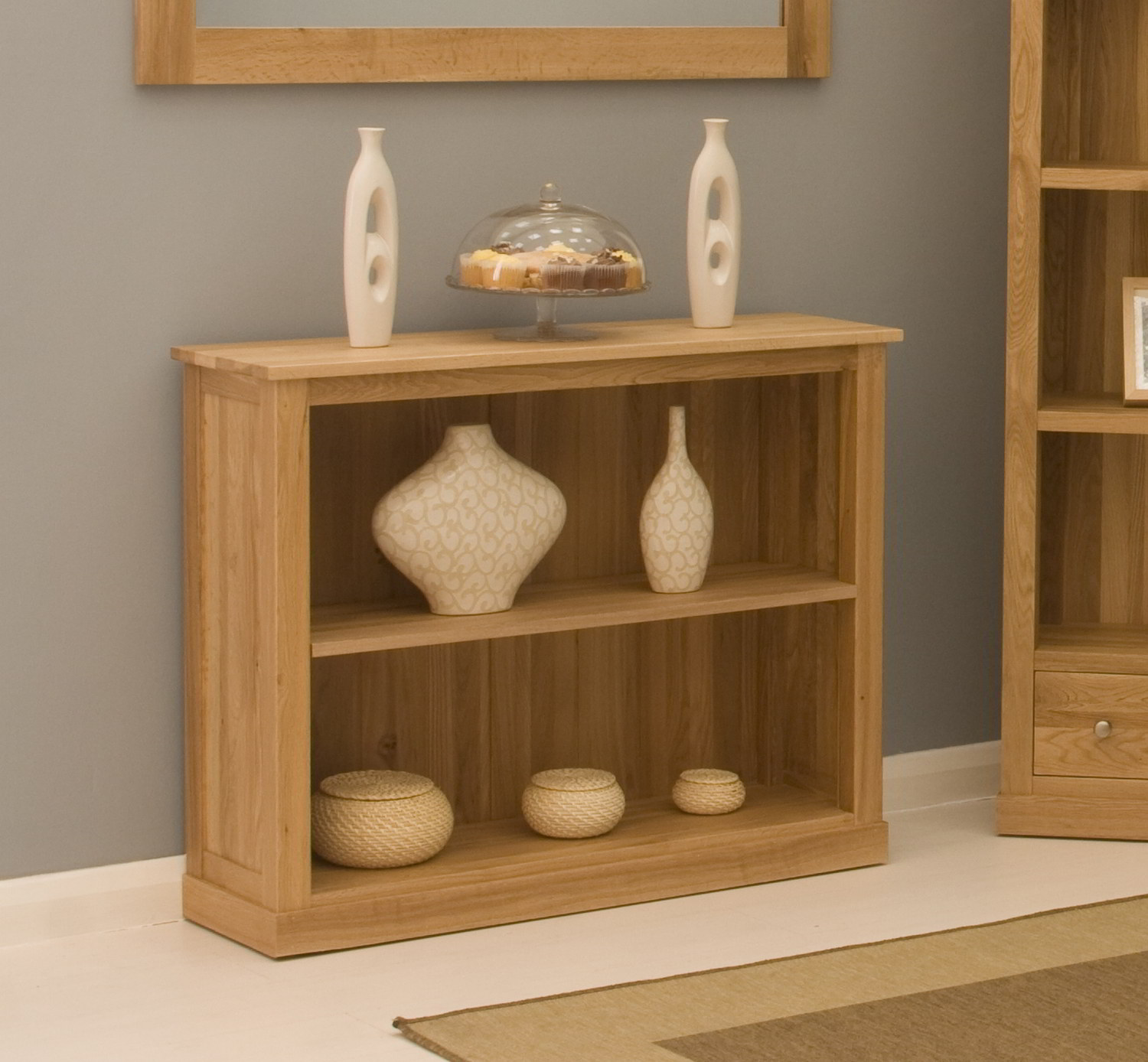 Details About Conran Solid Oak Contemporary Furniture Low Office Living Room Bookcase