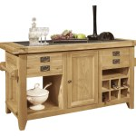 Details About Panama Solid Oak Furniture Large Granite Top Freestanding Kitchen Island Unit