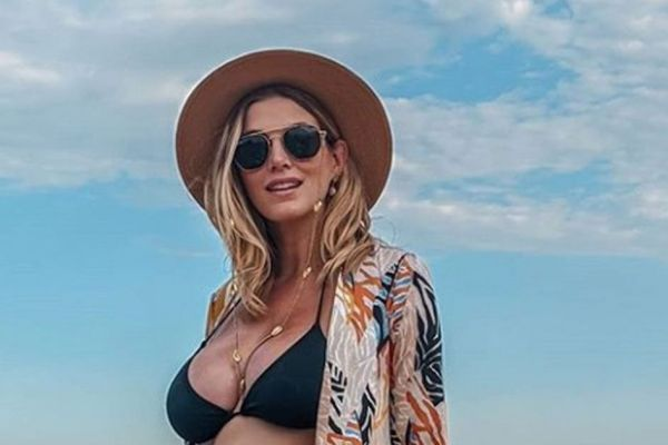 Pregnant Ashley James says she can't believe she's 'growing a penis' inside her