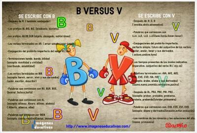 B VERSUS V