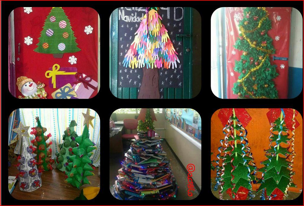 Arboles de navidad manualidades iv collage imagenes - Manualidades navidad primaria ...